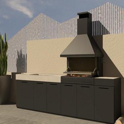 Barbacoas de dise o chimeneas pio for Barbacoas prefabricadas