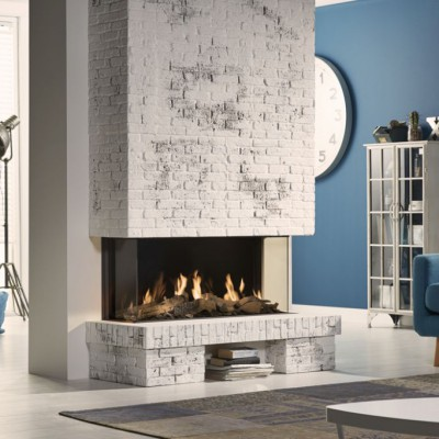 Chimenea de Gas Global 100 BF Triple