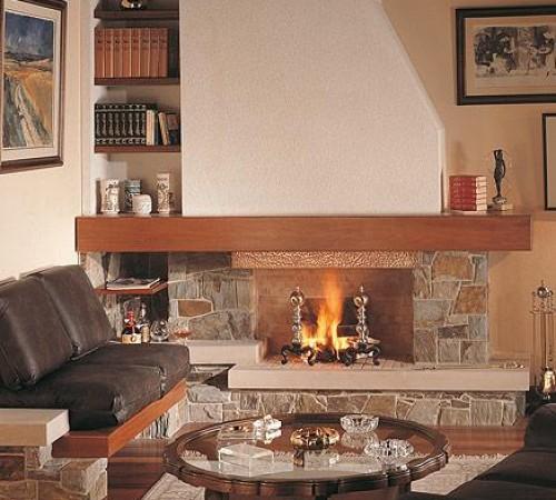 Chimenea r stica grande aconcagua chimeneas pio for Estufas a lena rusticas
