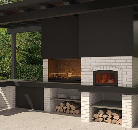 Barbacoas de obra chimeneas pio for Parrillas para casas modernas