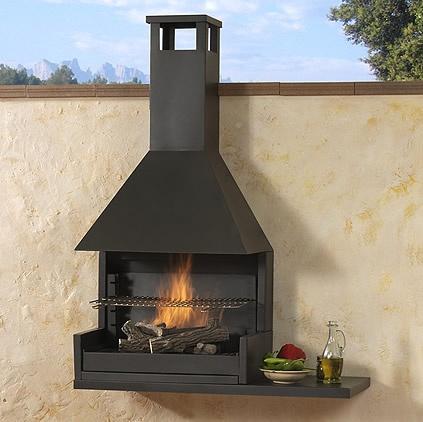 Barbacoes met l liques chimeneas pio for Chimeneas prefabricadas