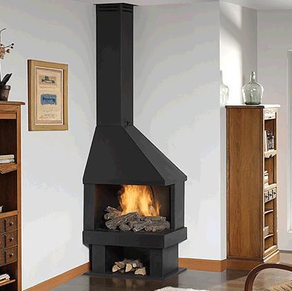 Chimeneas rusticas precios decoracin de chimenea de marml for Chimenea hierro fundido