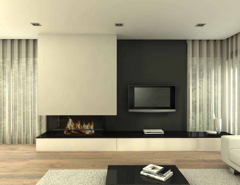 Chimeneas modernas chimeneas pio - Salones modernos con chimenea ...