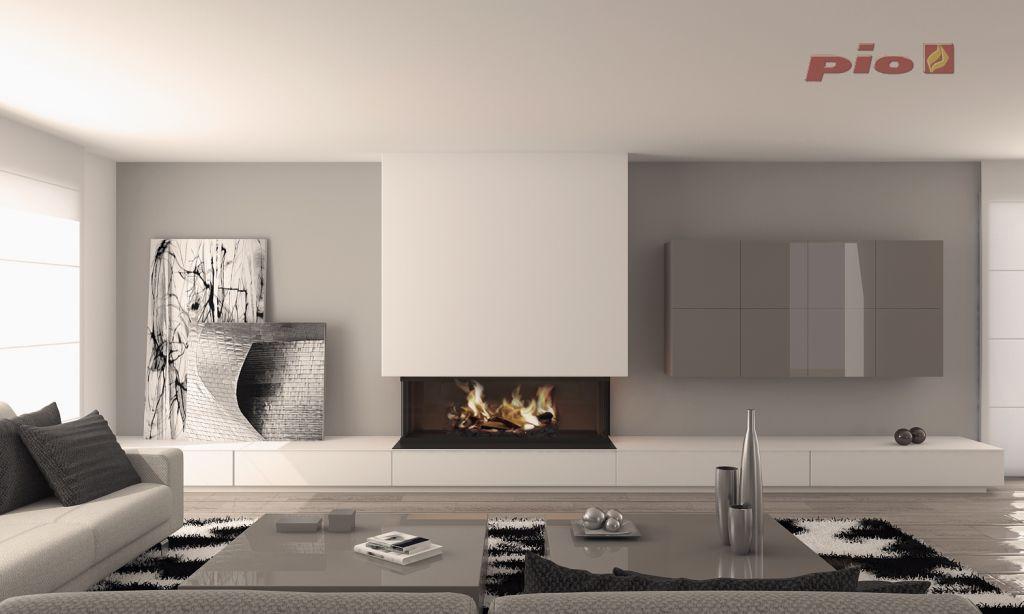 Chimeneas Modernas Cool Diseo De Casa Moderna En Esquina