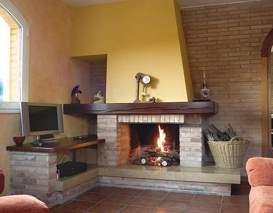 Chimenea r stica grande montgr chimeneas pio - Diseno de chimeneas rusticas ...