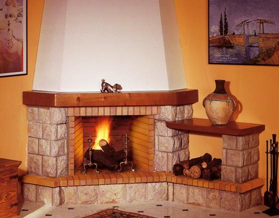 Chimenea r stica alaska chimeneas pio for Hogares a gas rusticos