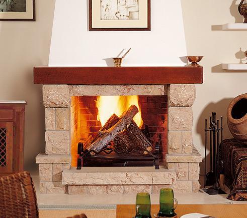 Chimeneas r sticas chimeneas pio - Mejor madera para chimenea ...