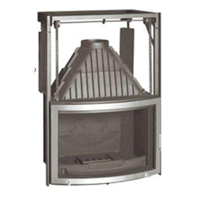 Recuperador ferro colat curvo inox guillotin 80x58 - Chimeneas pio sabadell ...
